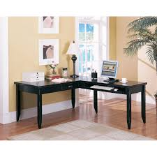 awesome l shaped desk with keyboard tray intended for home styles cabin creek transitional at com