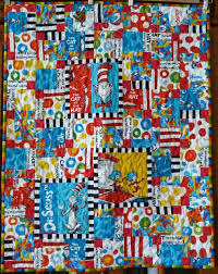 81 best Dr. Seuss fabric projects images on Pinterest   Quilt ... & Dr. Seuss quilt: Cat in the Hat collection Adamdwight.com