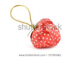 Coin Folding Ribbon Shaped Strawberry Fruit Stock Image