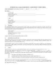 Nwt Residential Tenancy Agreement | Legal Forms And Business ...