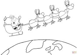Flying Reindeer Coloring Pages At Seimado