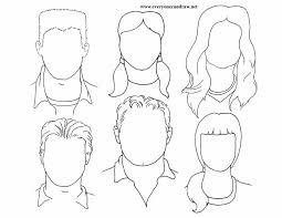 portraits heads for mix and match 4 portrait drawings step by step instructions on instructions worksheet ks1