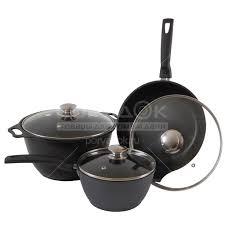 <b>Набор</b> посуды из алюминия Kukmara нкп01а (кастрюли с ...