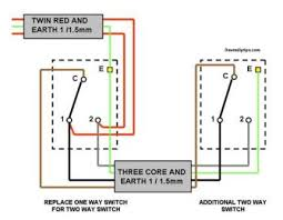 one way lighting circuit modified for two way switching dave s fig 2