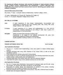 Software Developer Resume Samples Java Resume Samples Magdalene Project Org