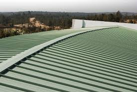 green corrugated fiberglass roofing panels