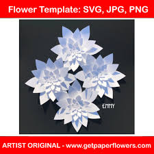 Giant Paper Flower Svg Giant Paper Flower Cut Template Use To Make Paper Flower Backdrops