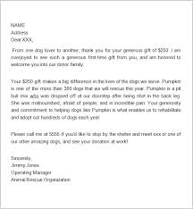 Letter Of Appreciation For Donation Thank You Card Donation Template