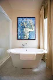 ceramic tile bathrooms. Interesting Tile Ceramic Tile Mural Above Soaking Tub To Ceramic Tile Bathrooms