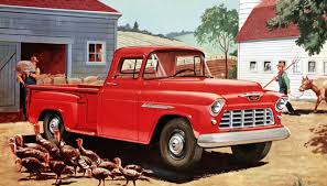 1955 Chevrolet 3200 Series half-ton long-wheelbase pickup with 2 ...