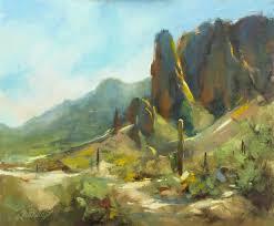 springtime in the rockies 10x12 oil plein air phoenix arizona