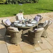 rattan garden furniture images.  Images Maze Rattan Winchester 6 Seater Round Armchair Garden Furniture Set On Images