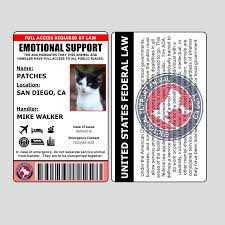 – Support Dog Dogs For Emotional Card Service Animal Ids Id Other Than