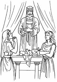 Solomon Two Women And A Baby Bible Coloring Page Bible Solomon