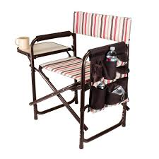 Folding patio chairs Black Picnic Time Moka Collection Sports Portable Folding Patio Chair The Home Depot Picnic Time Moka Collection Sports Portable Folding Patio Chair809