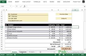 Free Excel Invoice Free Excel Invoice Template V1 0 With Customer And Product