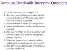 Accounting Interview Questions This Accounting Interview Questions and Answers PDF contains 100 2