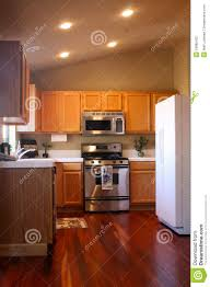Wood Kitchen Floor Cherry Wood Kitchen Stock Photography Image 18985432
