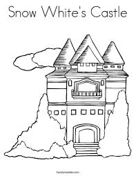 Small Picture Snow White House Coloring Page Coloring Coloring Pages