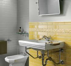 modern bathroom ideas adding sunny yellow accents to bathroom design