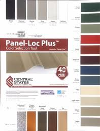 Central States Metal Color Chart Company Message Color Chart Knoxville Tn