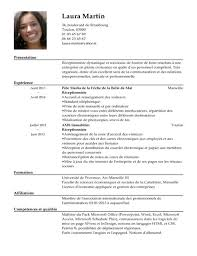 cv template word francais