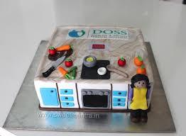 Kitchen Cooking Theme Designer 3d Fondant Cake For Moms Birthday