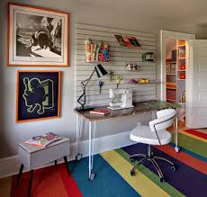 home office artwork. Pretty Home Office Eclectic Design With Colorful Art Idea Artwork