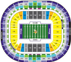 New Minnesota Vikings Stadium Seating Chart Nfl Football Stadiums Minnesota Vikings Mall Of America