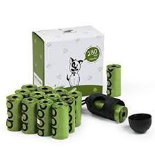 fondear biodegradable pet trash waste disposal dog poop bags with bone dispenser green dog poop disposal g9