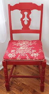painted red furniture. Annie Sloane Chalk Painted Red Chair Furniture