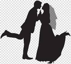 Wedding Invitation Marriage Silhouette Wedding Couple Silhouette