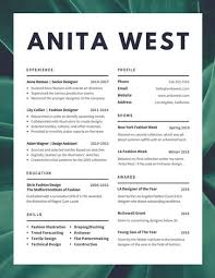 Lush Fashion Designer Resume
