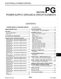 2011 nissan rogue power supply ground circuit elements 2011 nissan rogue power supply ground circuit elements section pg 107 pages