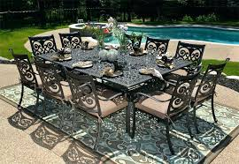 patio aluminum patio furniture cast table dining set with swivel daily knight decoration piece seats