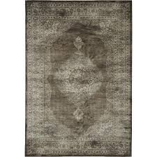 5 x 8 medium brown and beige area rug sonoma