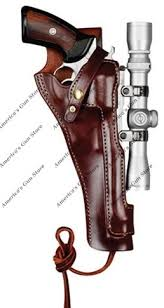 triple k 485 e cowboy scoped holster for gun group 27 s w x frames 460 500 8 38