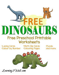 Dinosaurs Free Preschool Printable Worksheets | Early Learning ...