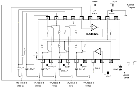 schematic 3 band equalizer the wiring diagram circuits > audio 5 band equalizer using ic ba3812l l21195 next gr schematic