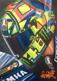 The stories and designs behind his motogp helmets. Valentino Rossi Helmet Motorsport Art Print Moto Gp Etsy