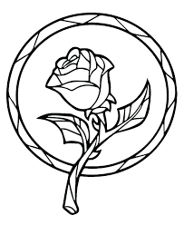 beauty and the beast enchanted rose coloring book page printable freebie books