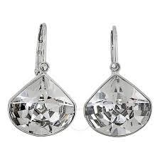 swarovski crystal via pendant pierced earrings set 5008652