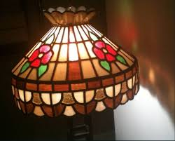 antique stained glass chandelier and ceiling lights
