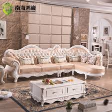 alibaba furniture. Luxury European French Baroque Rococo Classical Style Living Room Carved Wooden Leather Corner Sectional Modular Sofa Alibaba Furniture C