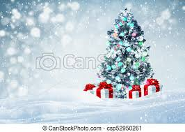 Gifts Background Christmas Tree Gifts Background