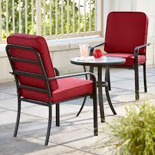 Essential Garden Bisbee 3 Piece Bistro Set  Red Limited Three Piece Outdoor Furniture