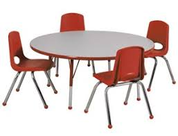 preschool table. Preschool-round-activity-table-chair-packages-by-ecr4kids Preschool Table P