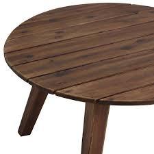 welwick designs 30 in dark brown round