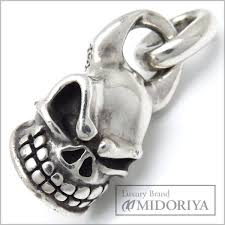 auth starlingear men s sterling silver 925 micro skull pendant 097116 free ship