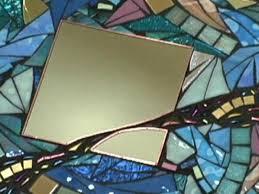 contemporary glass mosaic mirror